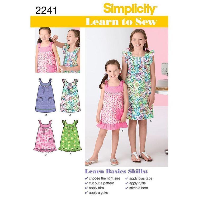Simplicity Pattern 2241 Girl's Dress
