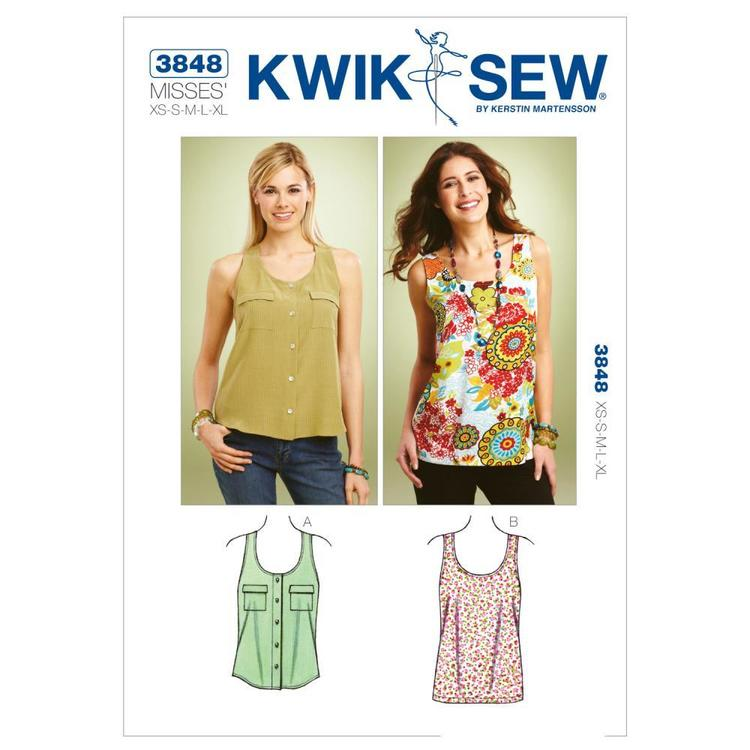 Kwik Sew K3848 Tank Tops  X Small - X Large