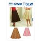Kwik Sew K3852 Full Skirts  X Small - X Large