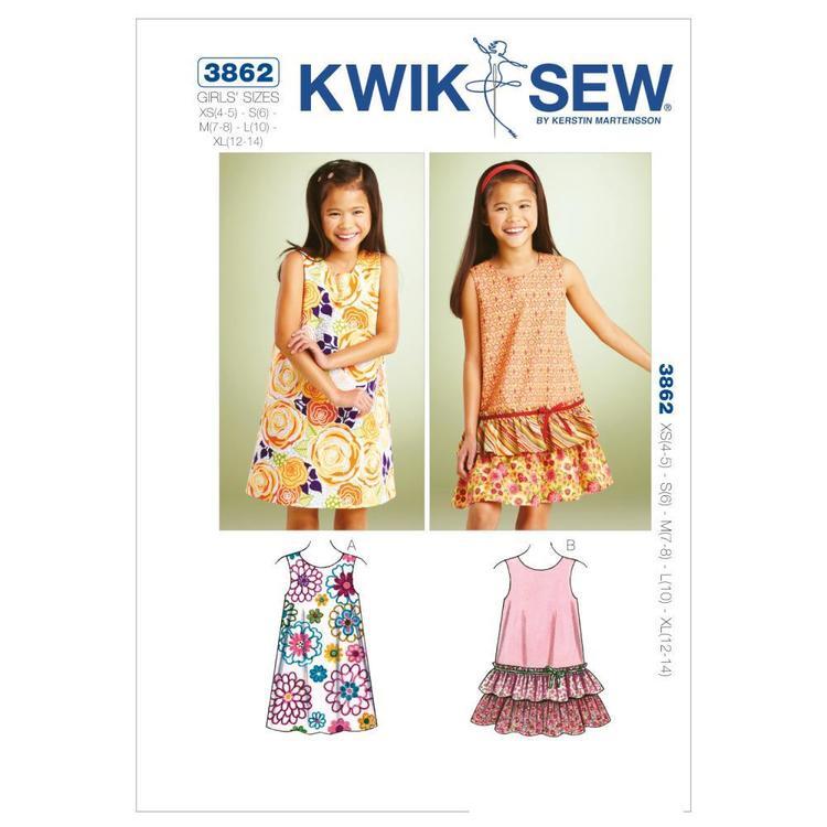 Kwik Sew Pattern K3862 A-Line Dresses