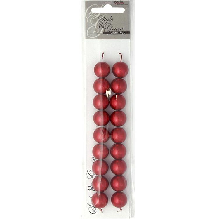 Ribtex Style & Grace Glass Pearls 18 Pack