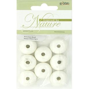 Ribtex Inspired By Nature Donut Porcelain Beads 8 Pack