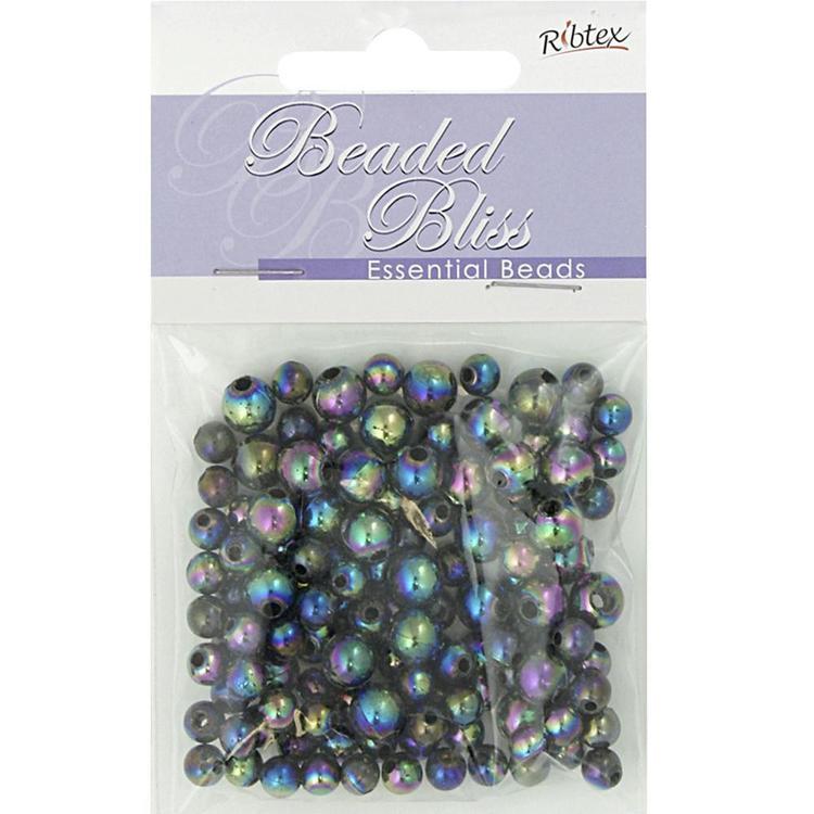 Ribtex Beaded Bliss Round Plastic Beads 20 Gram Pack