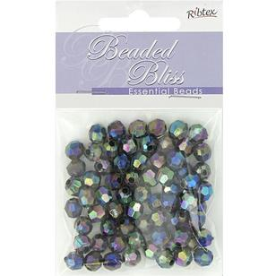 Ribtex Beaded Bliss Small Faceted Round Plastic Beads