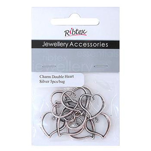 Ribtex Jewellery Accessories Double Heart Charms