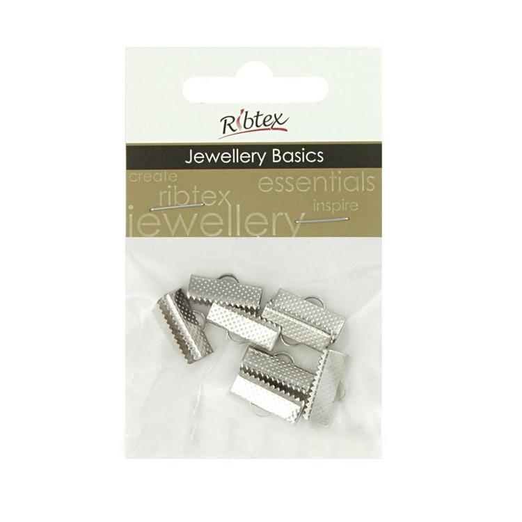 Ribtex Jewellery Basics Ribbon Clamp 8 Pack