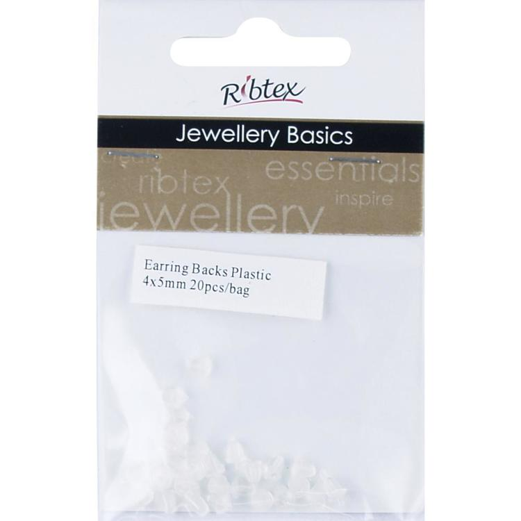 Ribtex Jewellery Basics Plastic Earring Backs