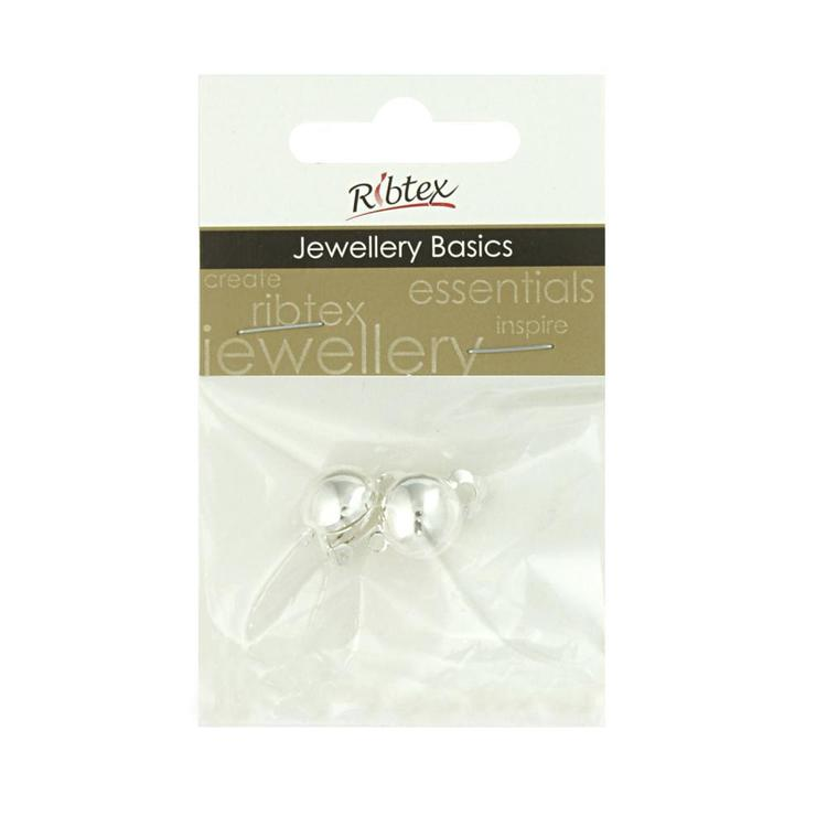 Ribtex Jewellery Basics Clip On Earrings Silver 10 mm