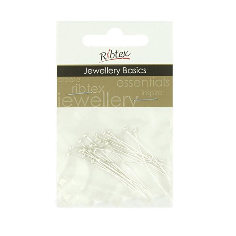 Ribtex Jewellery Basics Ball Head Pins 20 Pack