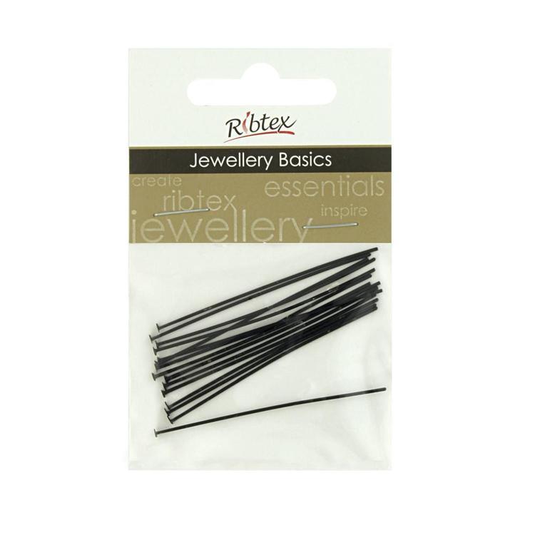 Ribtex Jewellery Basics Black Head Pins