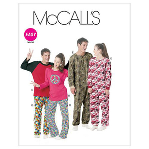 McCall's Pattern M6251 Teens' Tops Pants & Jumpsuit