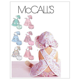 McCall's Pattern M6303 Infants' Dresses Panties & Hat