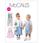 McCalls M6304 Toddlers' Rompers In 2 Lengths Dress Jacket & Shirt