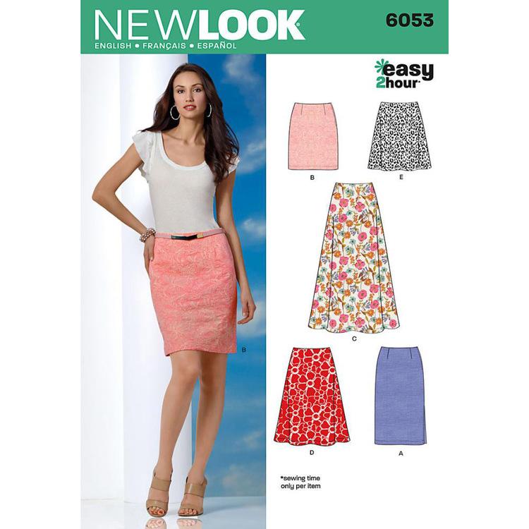New Look Pattern 6053 Women's Skirt