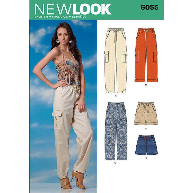 New Look Pattern 6055 Women's Pants & Shorts