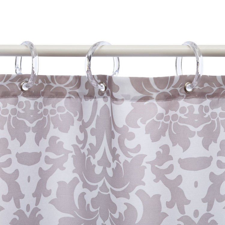 Bath By Ladelle 12 Shower Curtain Rings Clear
