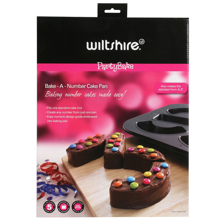 Wiltshire Party Bake A Number Cake Pan Grey