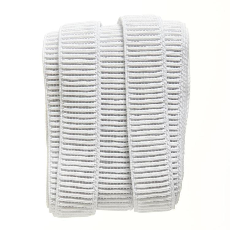 Birch Ribbed Elastic Fixed Length White