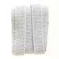 Birch Ribbed Elastic White