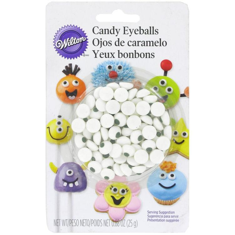 Wilton Candy Eye Balls White & Black