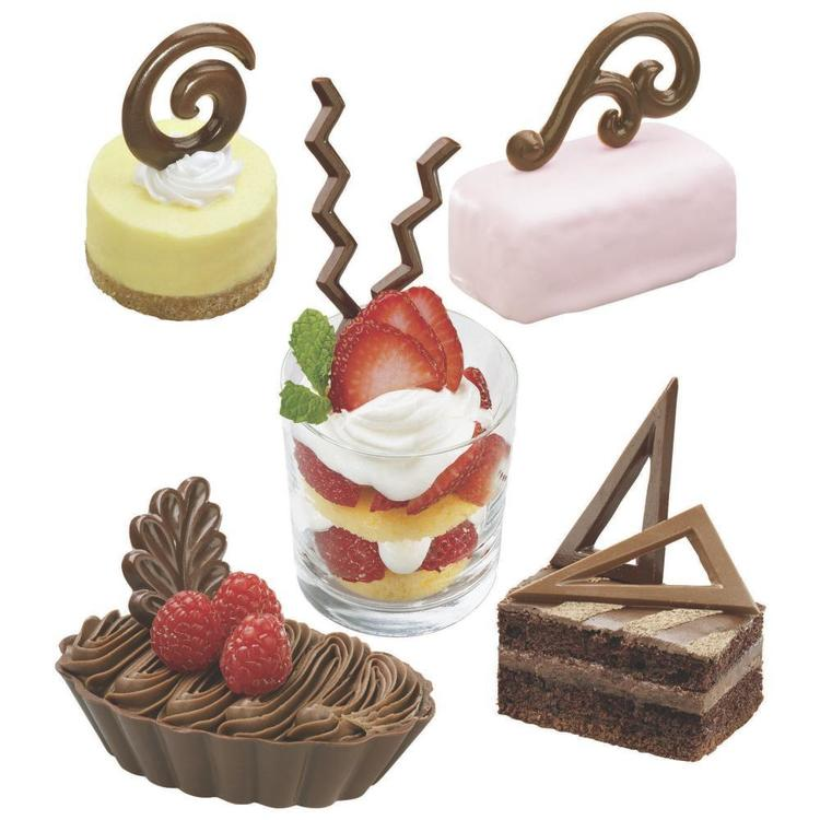 Wilton Dessert Accents Candy Moulds Brown