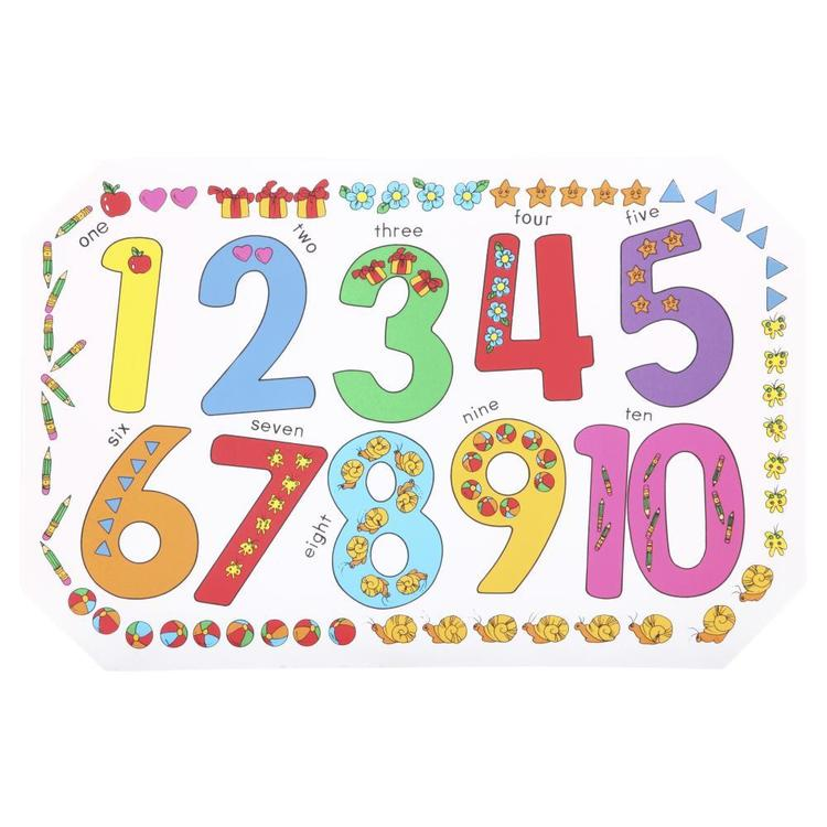 Childrens 123 PVC Placemat