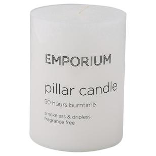 Emporium 50-Hour Burn Time Pillar Candle