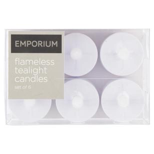Emporium LED Tealight Candles 6 Pack