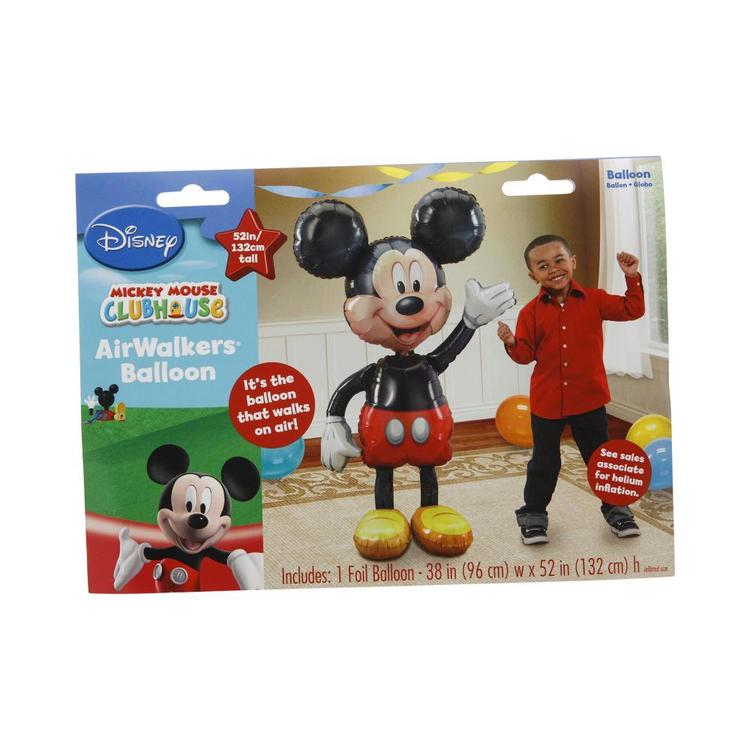 Amscan Foil Airwalker Mickey Black & Red 96cm-x-132-cm