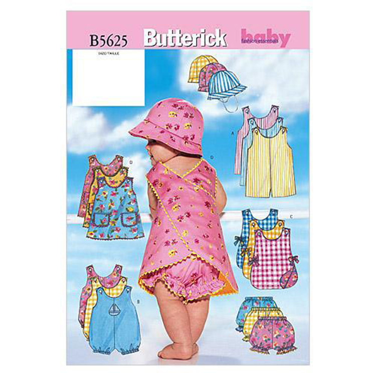 Butterick Pattern B5625 Infants' Romper Jumper Panties & Hat