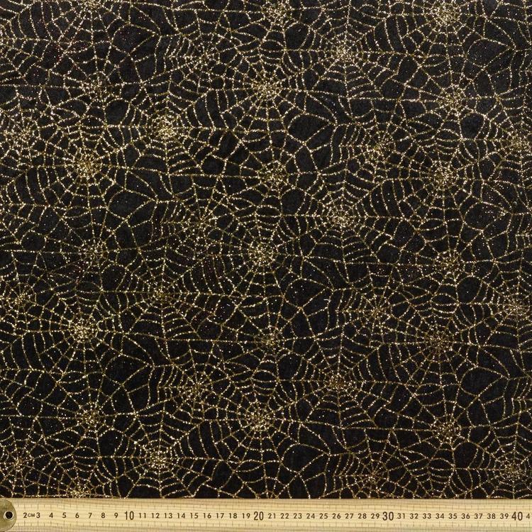 Spider Web Glitter Panne 148 cm Fabric