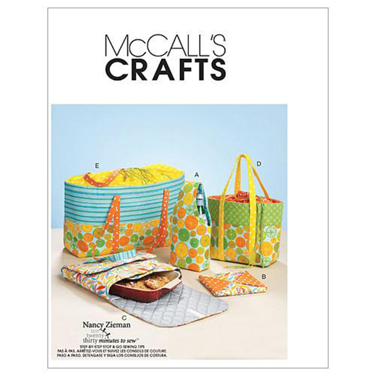 McCall's Pattern M6338 Carriers Hot Pad & Picnic Totes
