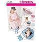 Simplicity 2165 Baby Accessories  All Sizes
