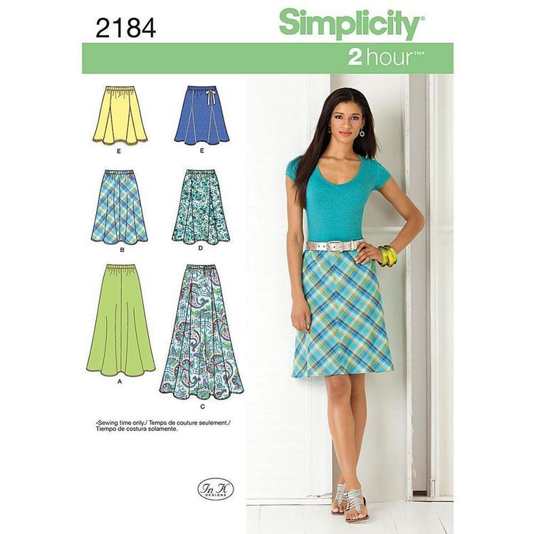 Simplicity Pattern 2184 Women's Skirt
