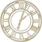 Kaisercraft Wooden Flourishes Roman Clock Face Pack Natural