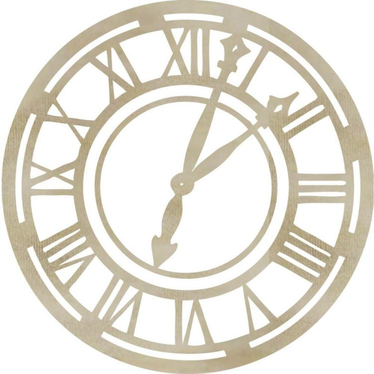 Kaisercraft Wooden Flourishes Roman Clock Face Pack