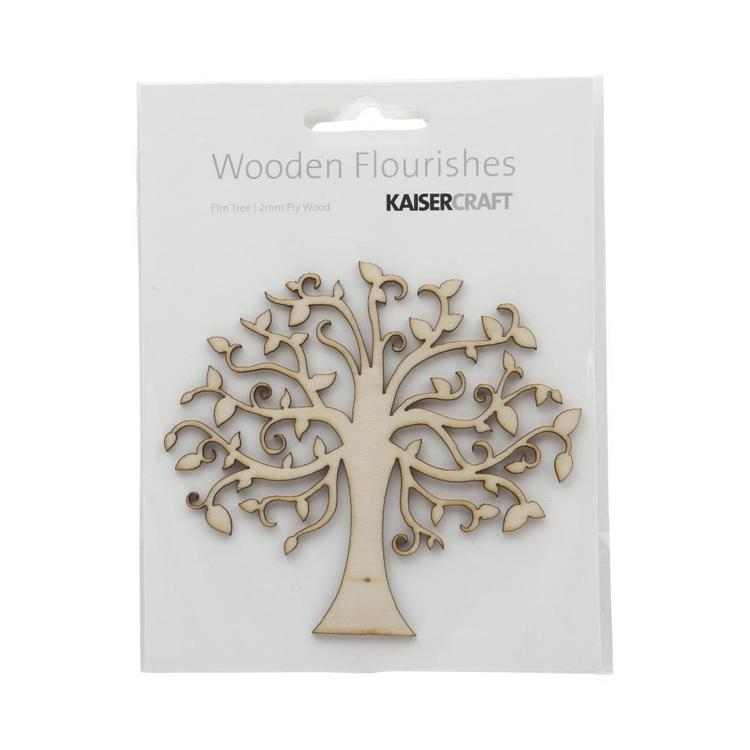 Kaisercraft Wooden Flourishes Elm Tree Natural