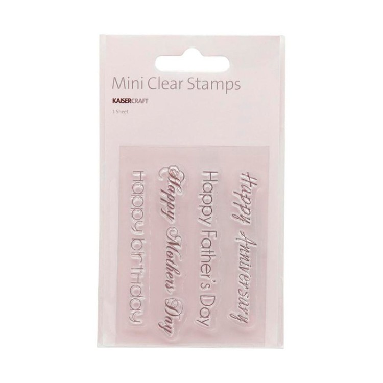 Kaisercraft Occasions Mini Clear Stamp Black