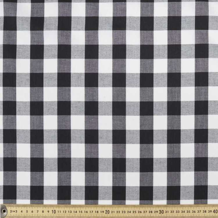 1 Inch Wide Gingham 148 cm Poly Cotton Fabric