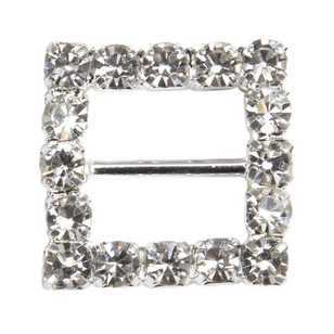 Cristina Re Designer Diamante Square Buckles