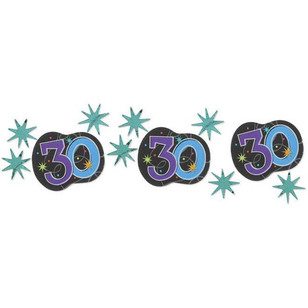 Amscan 30th Party Confetti Triple Pack