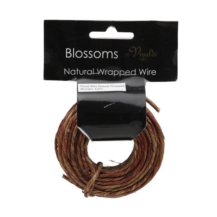 Vivaldi Natural Wrapped Floral Wire
