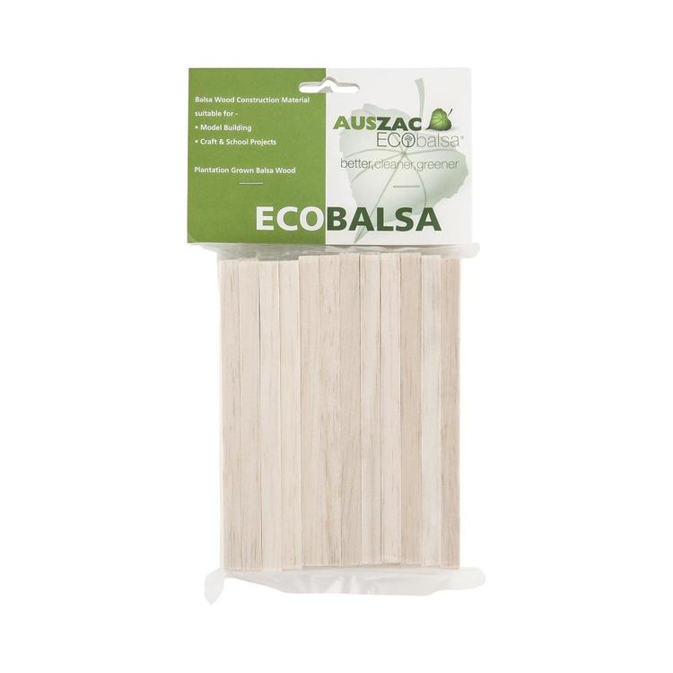 Eco Balsa Basics 120 Sticks Pack Natural