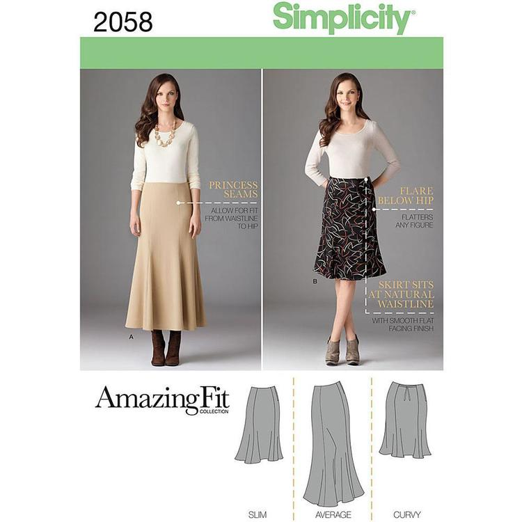 Simplicity Pattern 2058 Women's Skirt