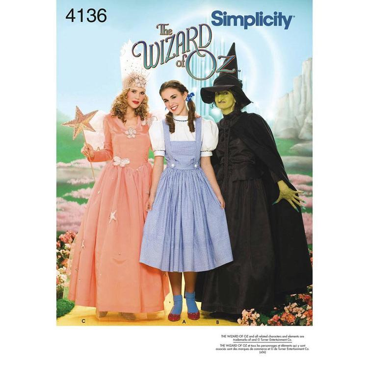 Simplicity Pattern 4136 Wizard Of Oz Costume
