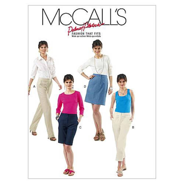 McCall's Pattern M6361 Misses' Skirt Shorts & Pants In 2 Lengths
