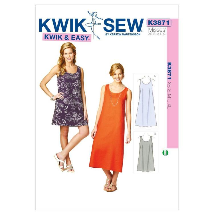 Kwik Sew Pattern K3871 Dresses  X Small - X Large