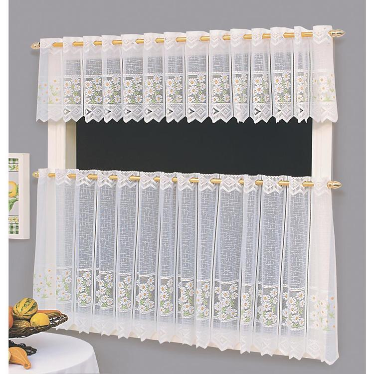 Caprice Daisies Sheer Cafe Curtain