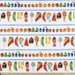 Very Hungry Caterpillar Cakes Fabric Multicoloured 112 cm