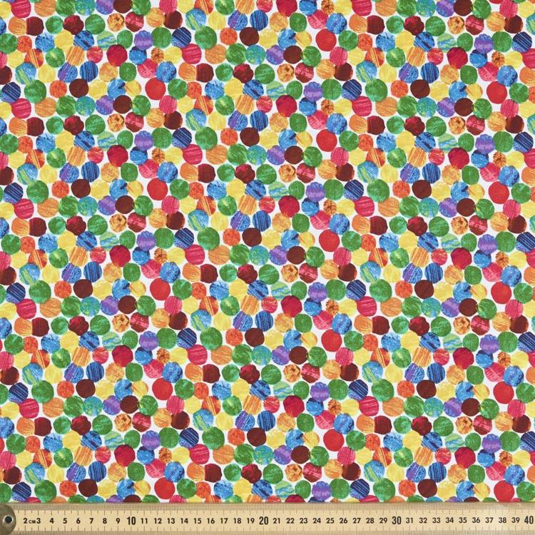 Very Hungry Caterpillar Dots Fabric